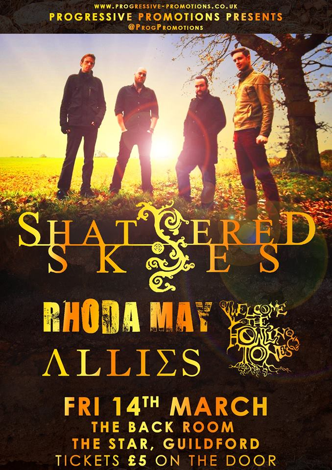 Rhoda May, Shattered Skies, Allies & Welcome The Howling Tones
